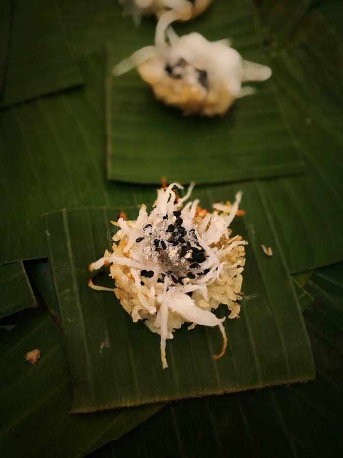 Zoete Thaise traditionele kokosnotengreep royalty-vrije stock foto's
