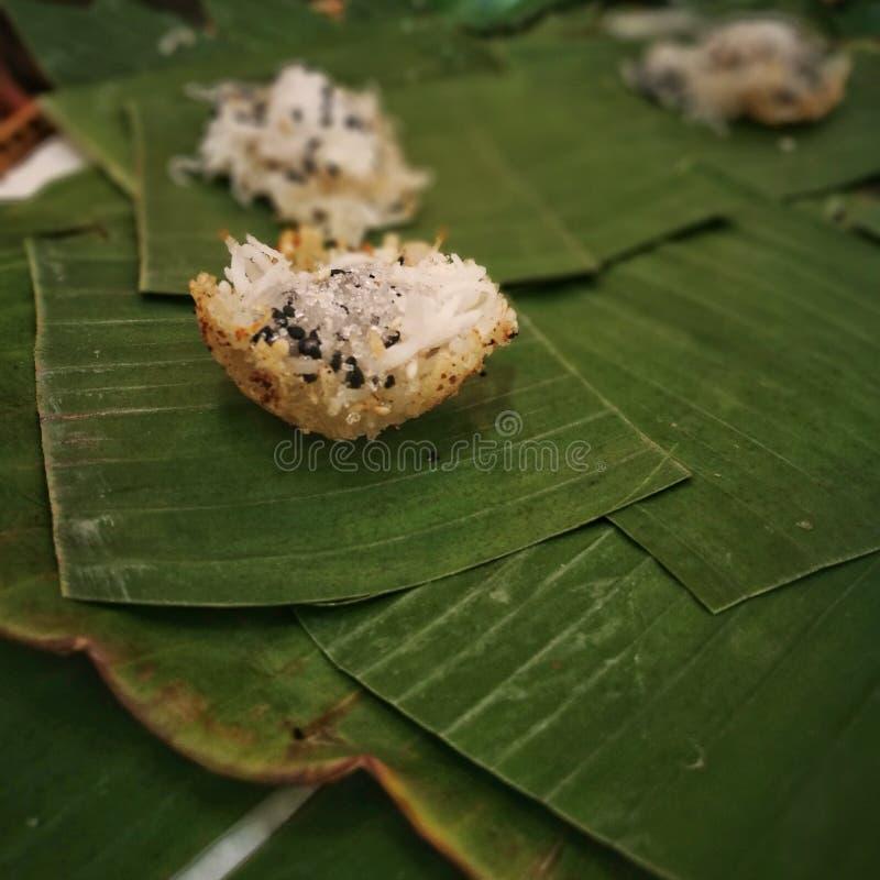 Zoete Thaise traditionele kokosnotengreep stock afbeelding
