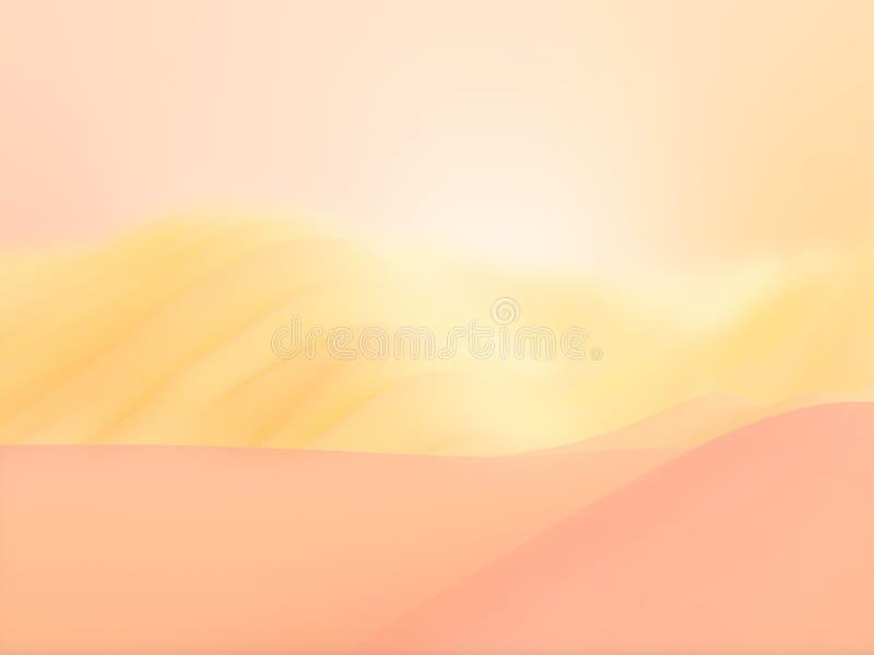 Zoete woestijnachtergrond vector illustratie
