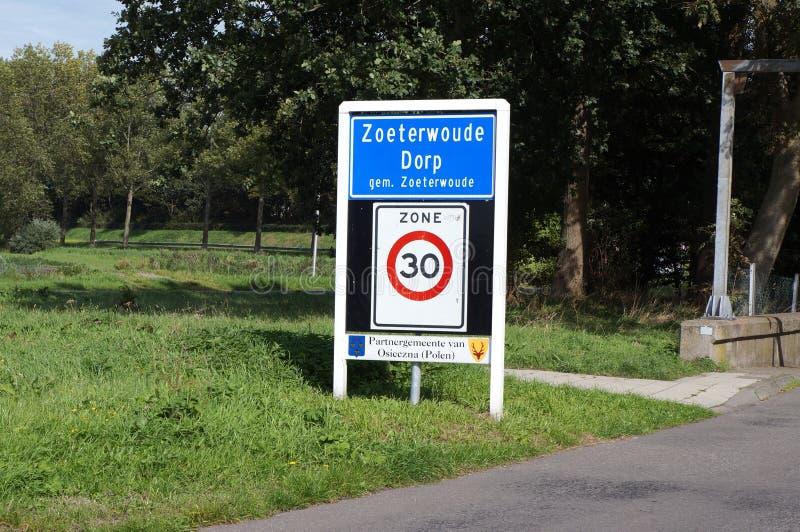 Zoeterwoude Dorp, los Países Bajos foto de archivo libre de regalías