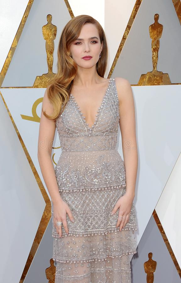 Zoey Deutch. At the 90th Annual Academy Awards held at the Dolby Theatre in Hollywood, USA on March 4, 2018 stock image