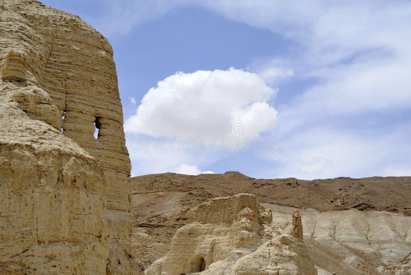 Zohar forteca w Judea pustyni. obrazy royalty free