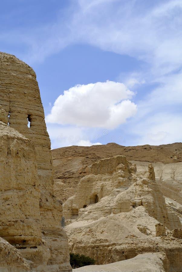 Zohar forteca w Judea pustyni. zdjęcia royalty free