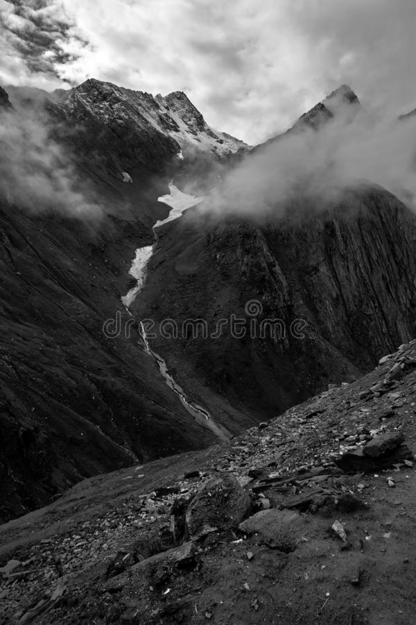 Zojilapas - hoogste Indische nationale weg royalty-vrije stock foto