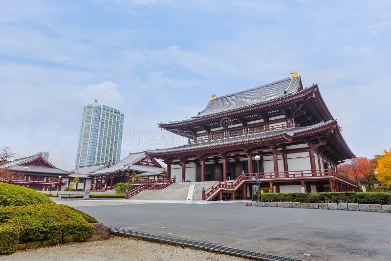 Zojoji寺庙在东京 库存照片