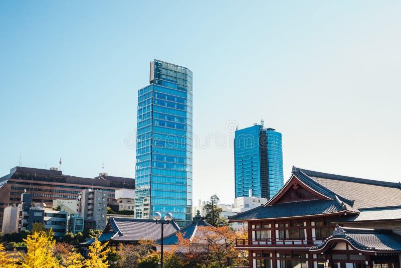 Zojoji寺庙秋天在东京,日本 库存图片