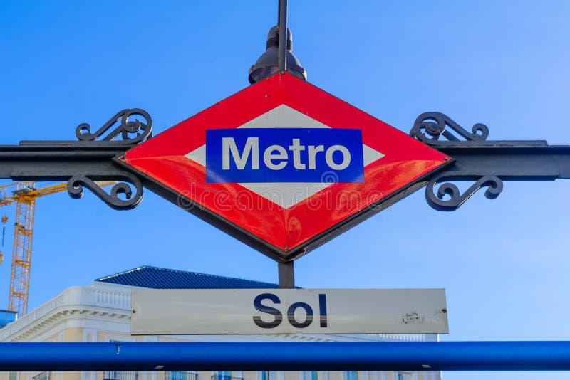 Zol staci metru znak, Madryt zdjęcia stock