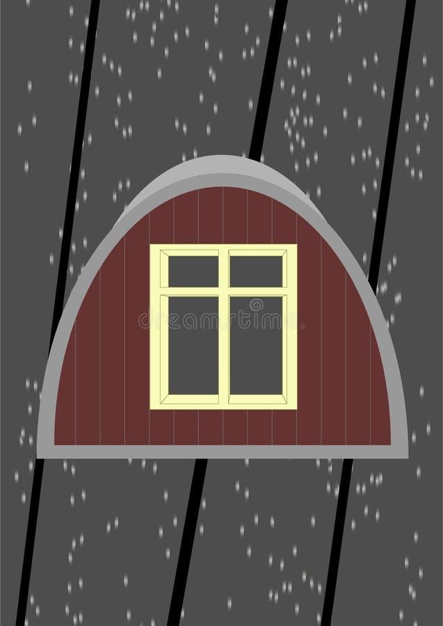 Zolder venster. stock illustratie