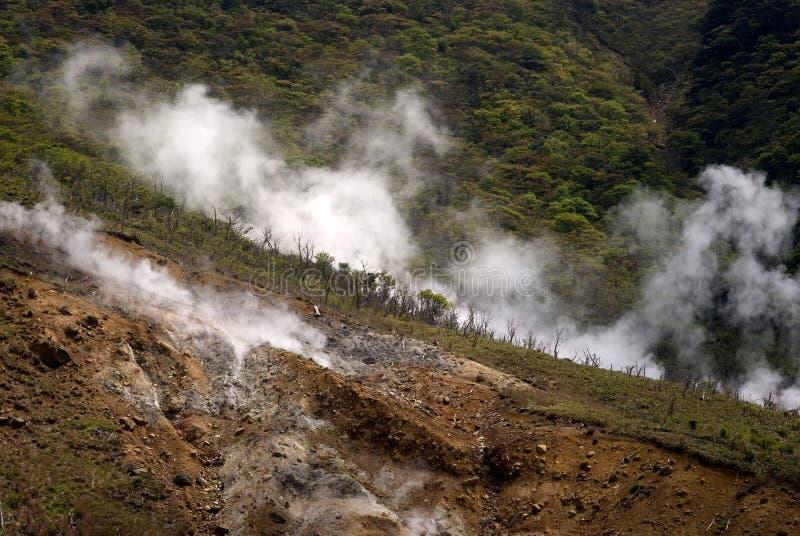 Zolfo, Owakudani, Giappone fotografie stock libere da diritti