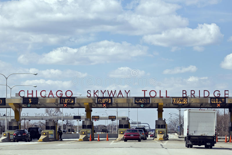 Zoll-Brücke Chicago-Skyway stockbild