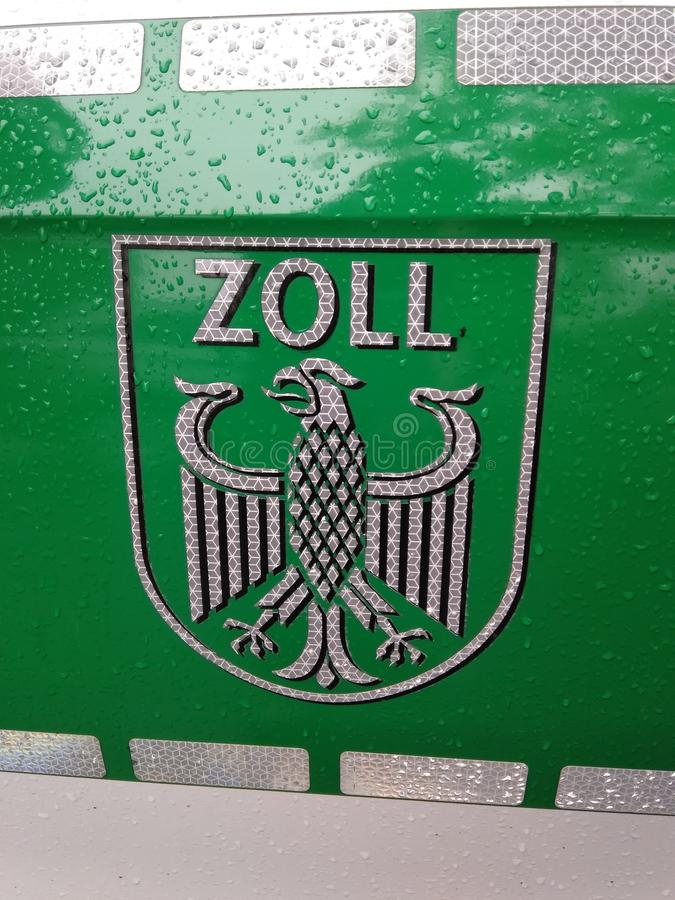 Zoll, Douane, Duitsland royalty-vrije stock fotografie