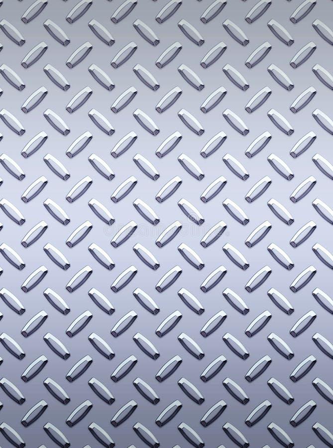 Zolla d'acciaio del diamante del metallo royalty illustrazione gratis