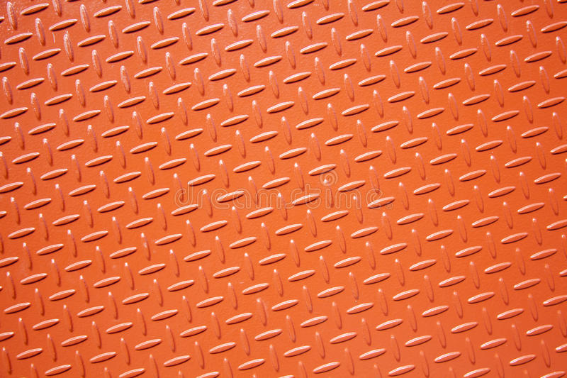 Zolla d'acciaio strutturata arancione fotografia stock libera da diritti