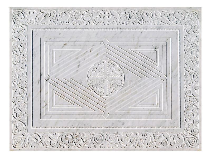 Zolla decorata di marmo. immagini stock