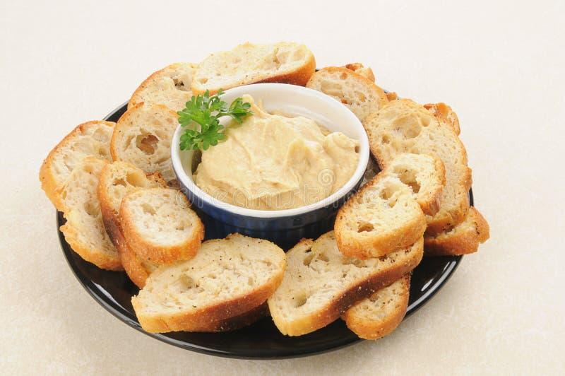 Zolla dello spuntino di Hummus immagine stock