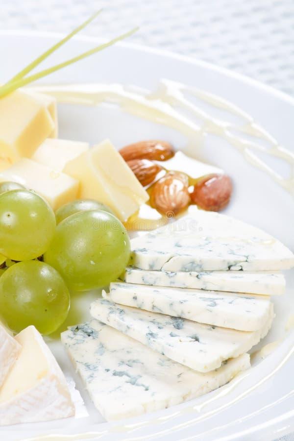 Zolla di formaggio con miele immagine stock libera da diritti