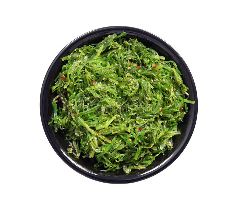 Zolla di insalata dell'alga immagine stock