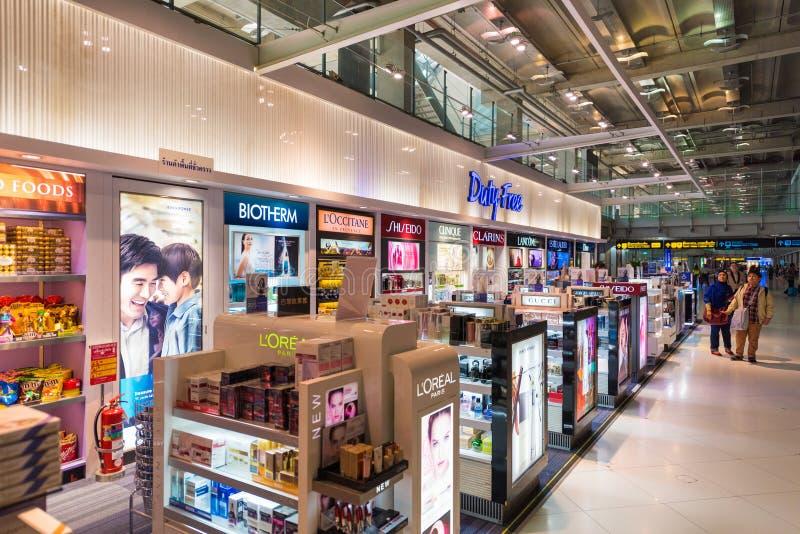 Zollfreie Speicher, Bangkok-Flughafen stockbild