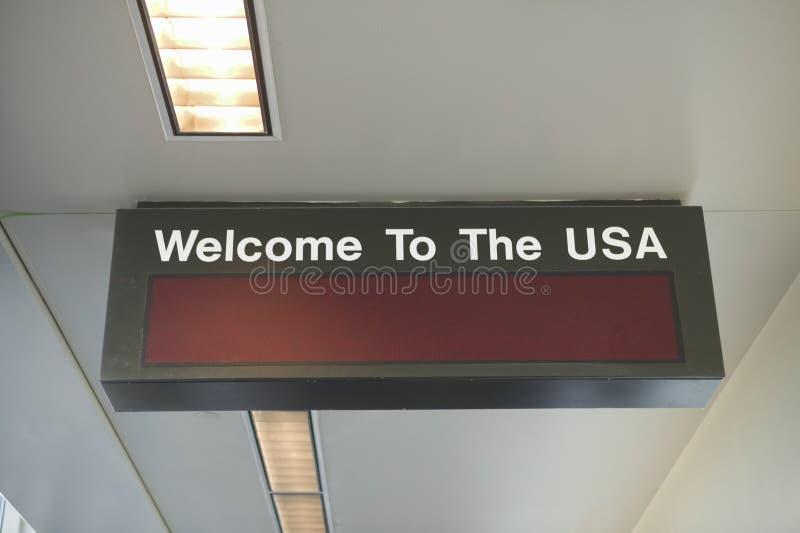 Zollgebiet eines internationalen Flughafens, Vereinigte Staaten stockfotos