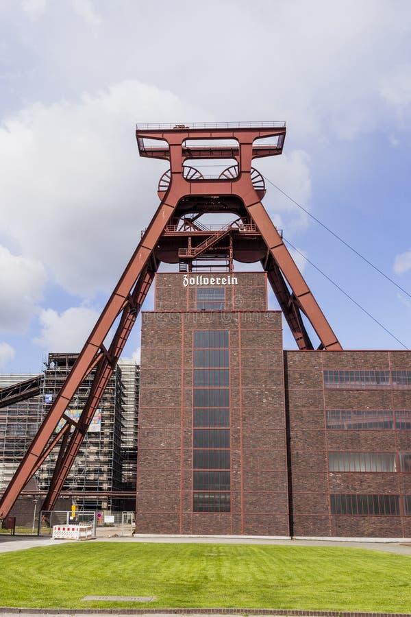 Zollverein kopalni węgla Przemysłowy kompleks - Essen, Niemcy obrazy royalty free