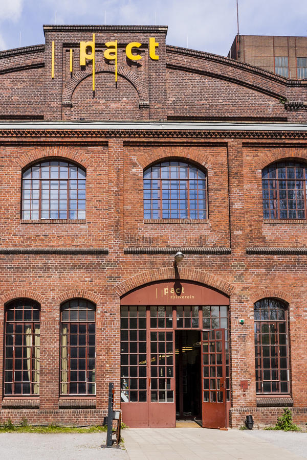 Zollverein kopalni węgla Przemysłowy kompleks - Essen, Niemcy obraz royalty free
