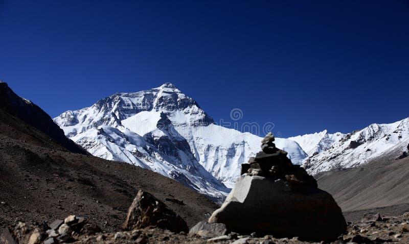 Zolmo Lungma el monte Everest Everest de Qomolangma del soporte fotografía de archivo libre de regalías