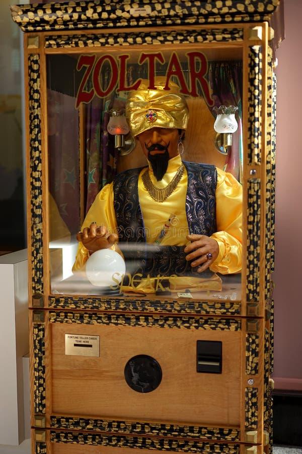 Zoltar fortune teller game stock photo