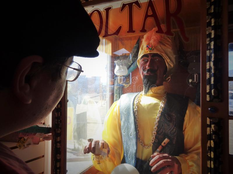 Zoltar the Fortune Teller Robot royalty free stock photo