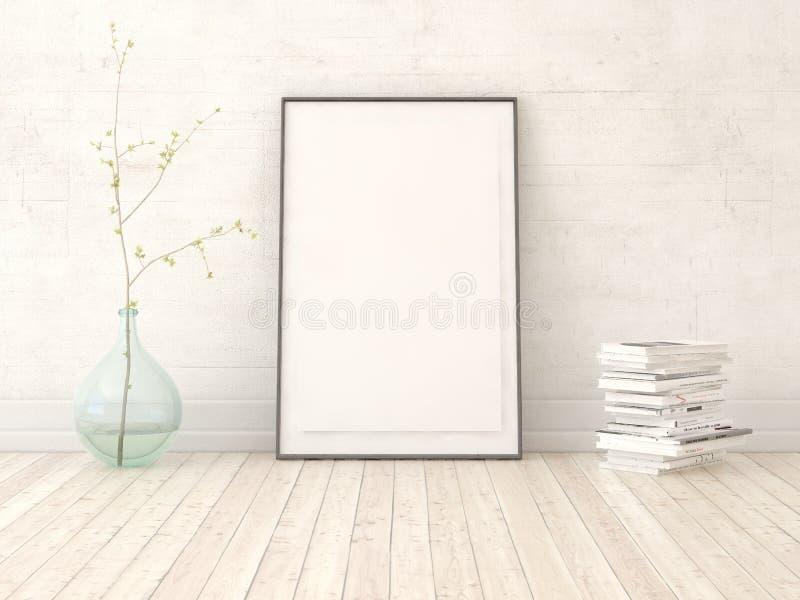 Zombaria acima do cartaz com frasco de vidro ilustração royalty free