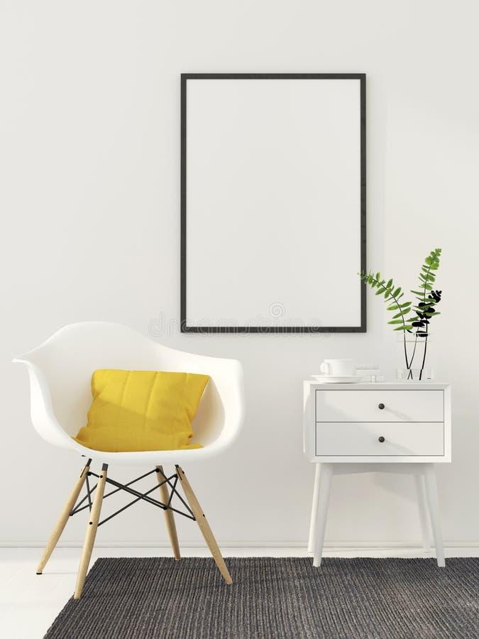 Zombaria acima do cartaz no interior branco ilustração stock