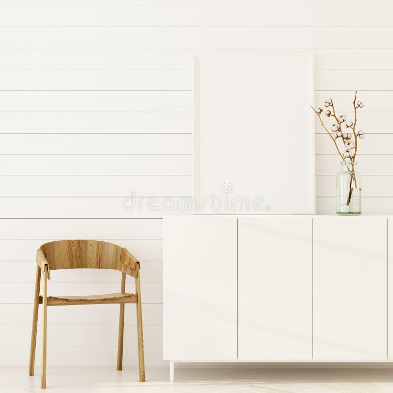 Zombaria acima do interior com tabela de madeira ilustração do vetor