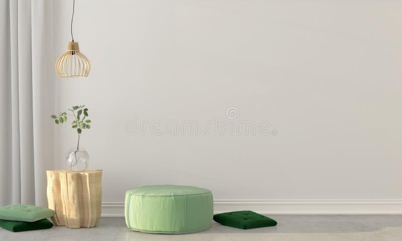 Zombaria acima do interior com um sopro verde ilustração do vetor