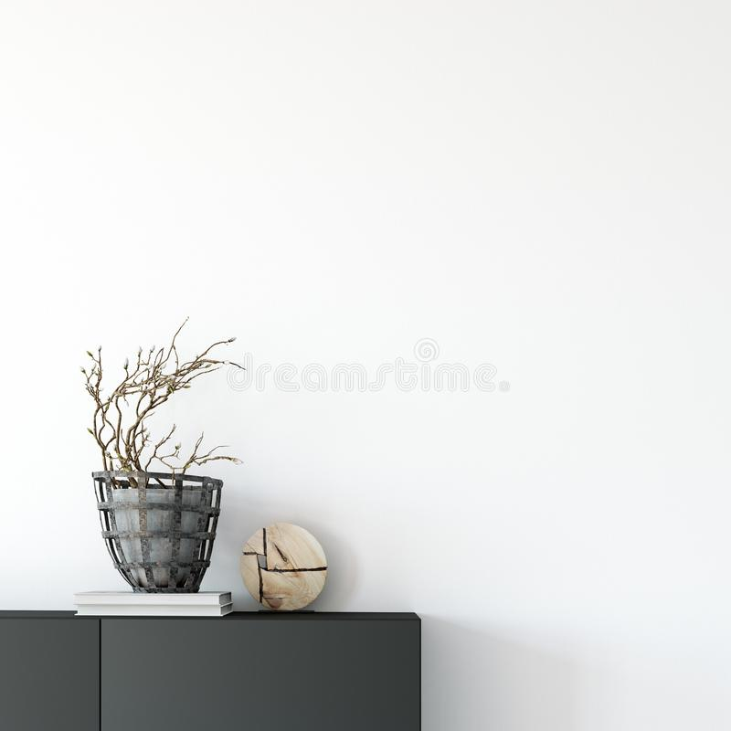 Zombaria acima do interior da parede Arte da parede 3D rendição, ilustração 3D ilustração stock