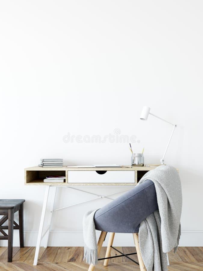 Zombaria acima do interior da parede Arte da parede 3D rendição, ilustração 3D ilustração do vetor