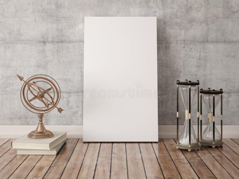 Zombaria acima do quadro vazio do cartaz ilustração stock