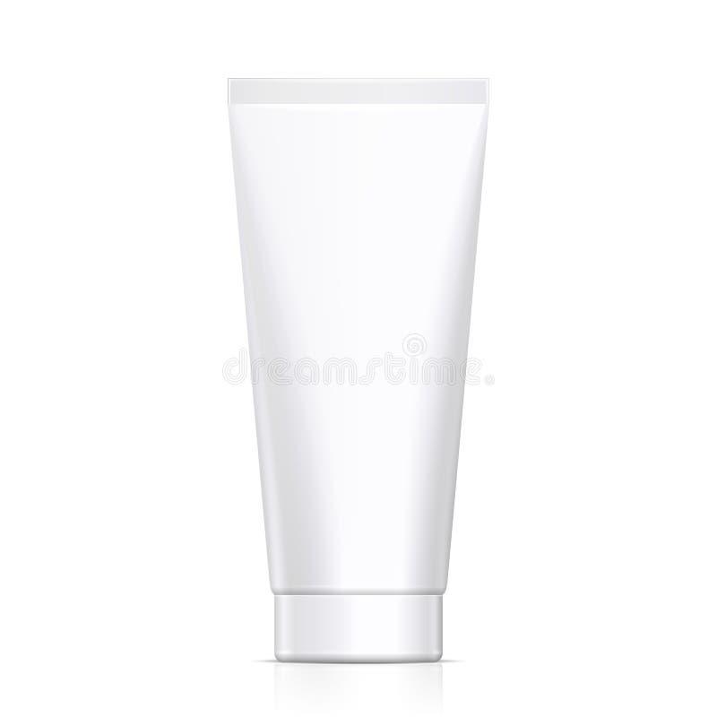 A zombaria acima do tubo do Grayscale do creme ou do gel branco limpa Produtos no fundo branco isolado Vetor eps10 ilustração do vetor