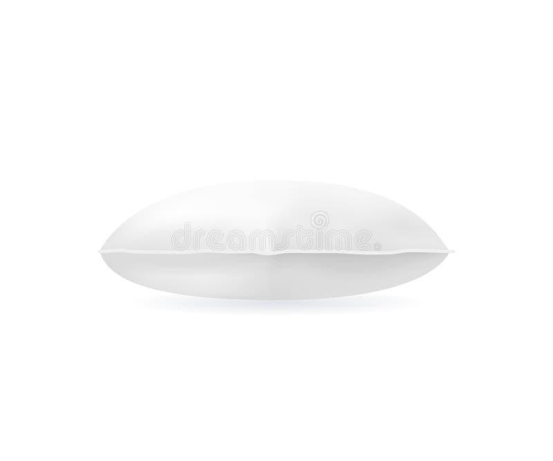 Zombaria branca do descanso da placa detalhada realística do molde 3d acima lateralmente Vetor ilustração royalty free