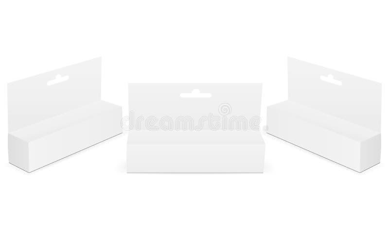 A zombaria da caixa do gancho configurou isolado no fundo branco ilustração royalty free