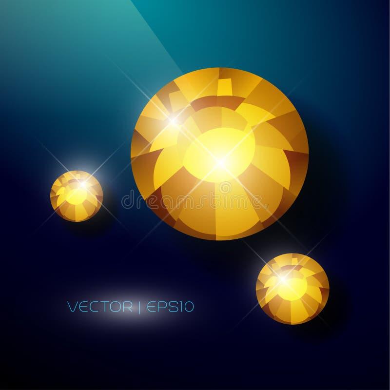 Zombaria da gema do cristal de rocha do vetor acima ilustração stock