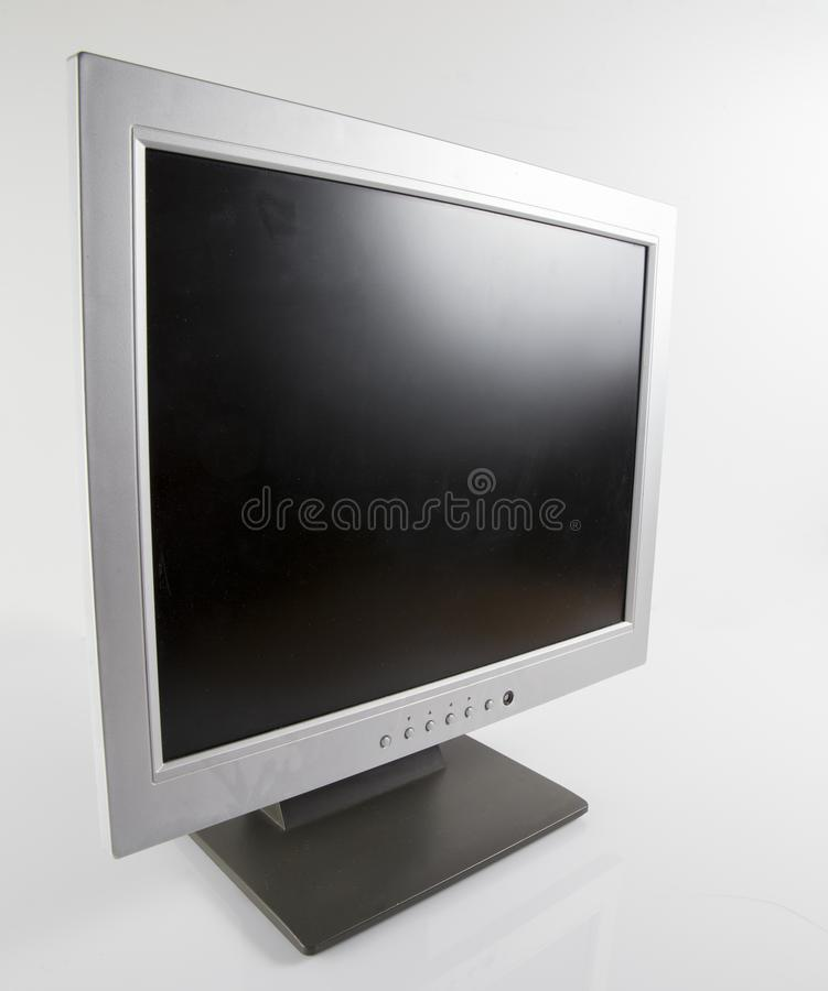 Zombaria da tevê do plasma do lcd do tela plano da tevê acima imagem de stock royalty free