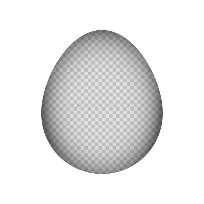Zombaria de papel do corte acima do fundo do ovo da páscoa ilustração royalty free