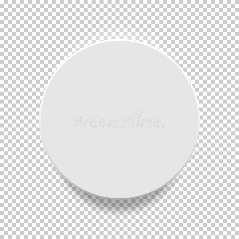 Zombaria do círculo acima de 3D modelo ilustração do vetor