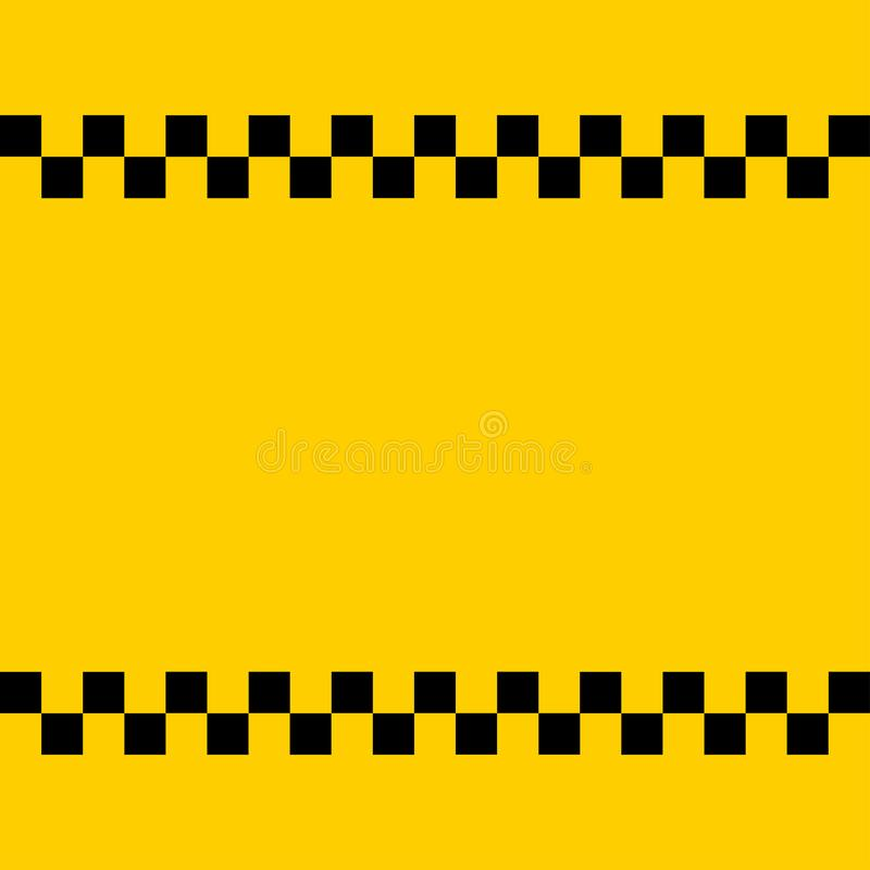 A zombaria do logotipo do táxi adiciona acima seu texto ilustração do vetor