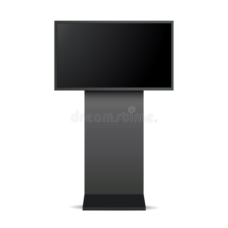 Zombaria do monitor do signage de Digitas acima ilustração do vetor