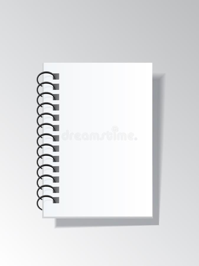 Zombaria do vetor acima da placa do caderno nas molas Artigos de papelaria do negócio com referência a ilustração royalty free