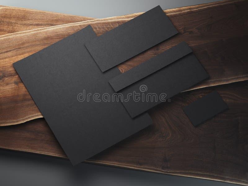 Zombaria dos artigos de papelaria do negócio acima Grupo do molde da identidade corporativa rendição 3d foto de stock royalty free