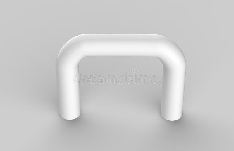 Zombaria incorporada da placa do Signage do escritório interior de vidro transparente vazio acima do molde, ilustração 3D ilustração stock