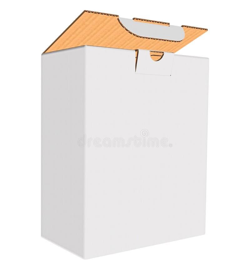 Zombaria ondulada branca da caixa acima no fundo branco ilustração stock