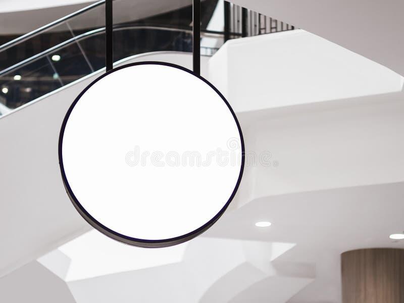 Zombe acima da loja varejo do negócio da forma do círculo do Signage imagem de stock royalty free