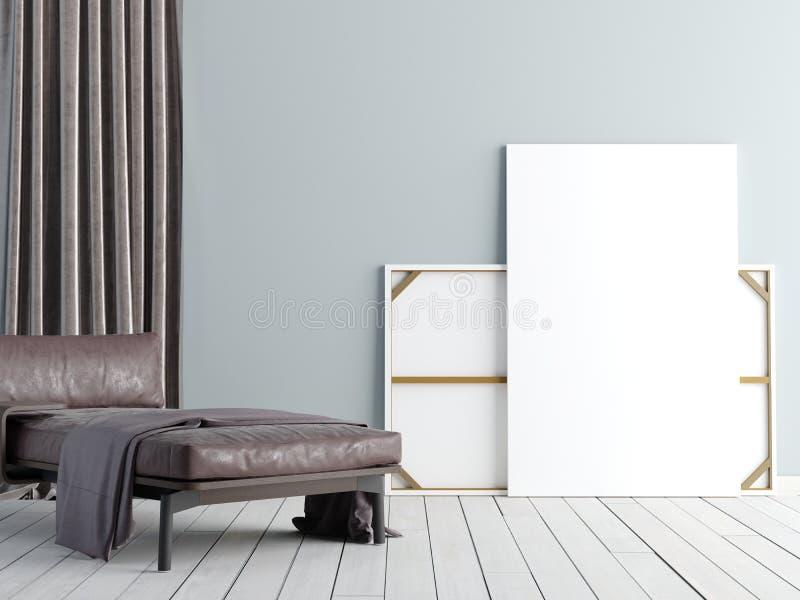 Zombe acima do cartaz com o sótão pastel do minimalismo do moderno do vintage inter ilustração do vetor